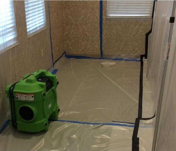 Water Damage Containment Barrier